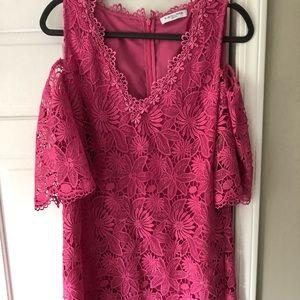 BEAUTIFUL lacy pink formal dress